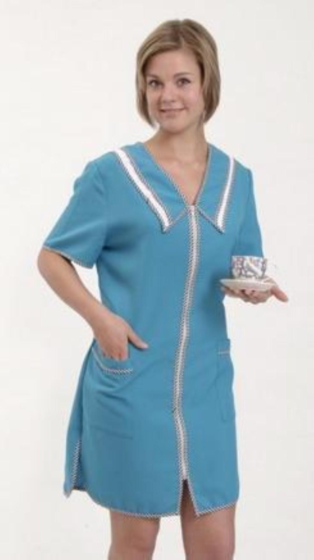 халат укороченный с отложным